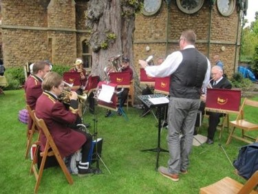 The Band Playong in the Grounds